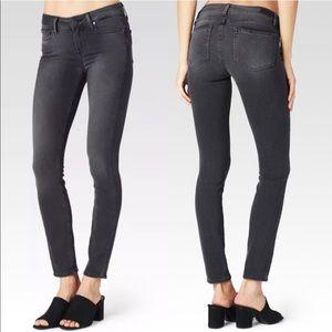 PAIGE Verdugo Ankle Skinny Smoke Grey Jeans A3761